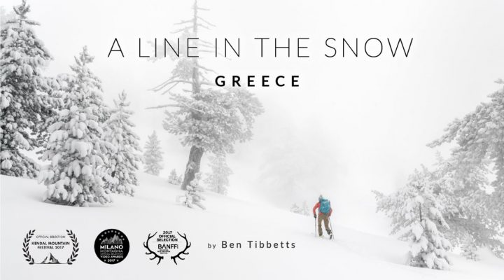 A line in the snow – Greece