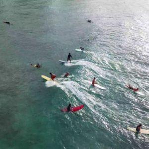 Queens surfing