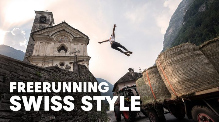 Freerunning in the Swiss Alps